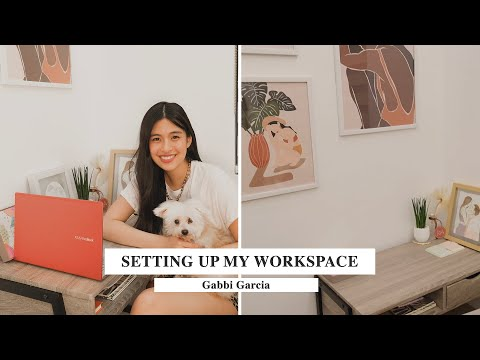 SETTING UP MY WORKSPACE & UNBOXING MY NEW LAPTOP! | Gabbi Garcia