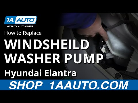 How To Install Replace Windshield Washer Pump Hyundai Elantra 01-06 1AAuto.com