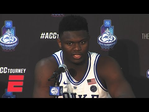 Zion Williamson, Duke Postgame Press Conference after Syracuse win   College Basketball Sound