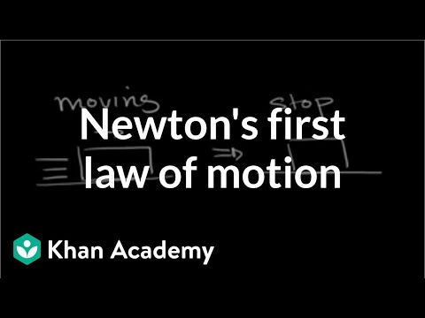 Newton's first law of motion introduction (video) | Khan Academy