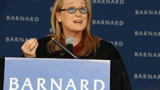 Meryl Streep, Barnard Commencement Speaker 2010, Columbia University
