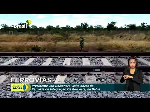 Presidente visita obras de ferrovia na Bahia
