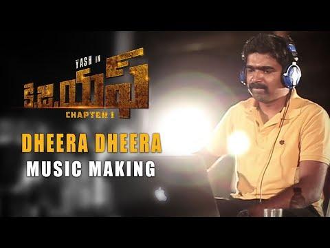 Dheera Dheera Music Making Video - KGF Telugu - Yash | Prashanth Neel | Hombale Films