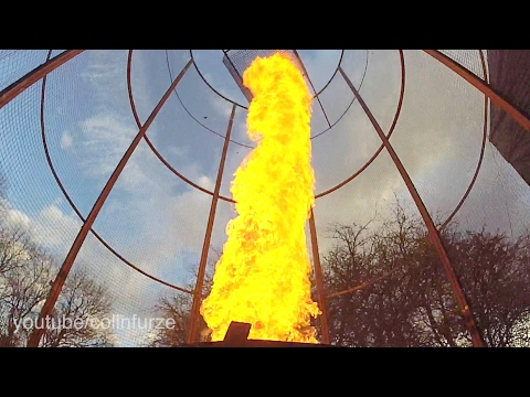 Crazy British Inventor Creates Giant Fire Tornado