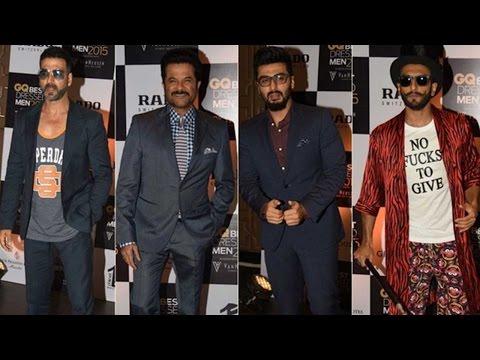 GQ Men's Award 2015: Ranveer Singh, Arjun Kapoor,