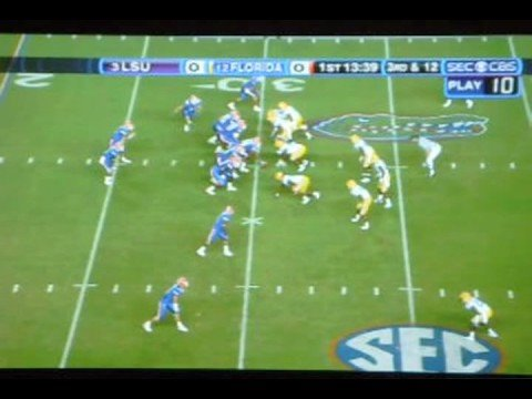 Touchdown highlights -Tim Tebow to Percy Harvin 70 yard