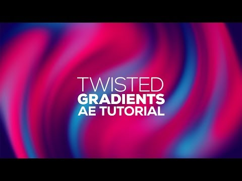After Effects Tutorials - Twisted Gradient Backgrounds In After Effects - No Plugins