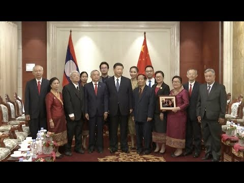 Chinese President Meets Pholsena Family in Vientiane