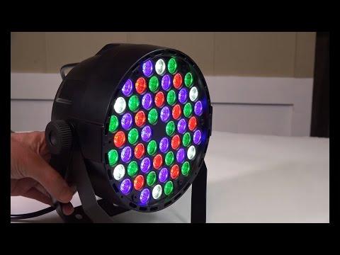 Coidak 60w 54leds | LED PAR Lights | Stage RGB Review | LED Spot Light