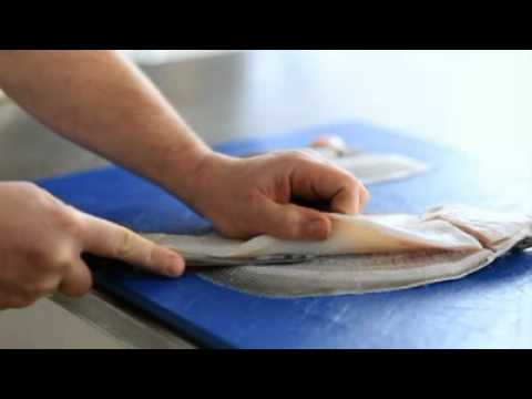 Filleting Plaice - Cross Cut
