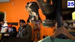 A Guidonia, Roma, evento di musica rap allo store Streetmentality con artisti come Balo1 e Robeone della crew Tibber Squadd.
