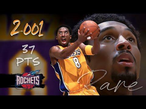 Kobe Bryant Posts 37 Pts & 10 Reb, Frobe GEM vs Rockets - Nov 12, 2000 (RARE Full Highlights)