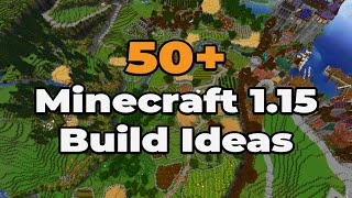 50+ Minecraft 1.15 BUILD IDEAS : Building Tips and Tricks