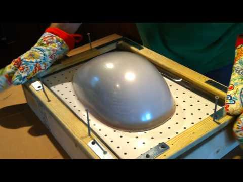 Homemade vacuum forming a helmet
