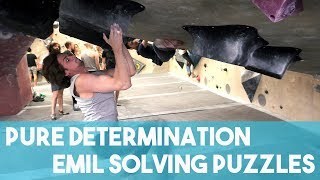 Emil Climbing On So ill Holds - Extreme Confusion by Eric Karlsson Bouldering