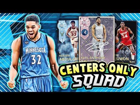 NBA 2K18 ALL CENTERS CHALLENGE!! *FREE PINK DIAMOND KAT* | NBA 2K18 MyTEAM SQUAD BUILDER