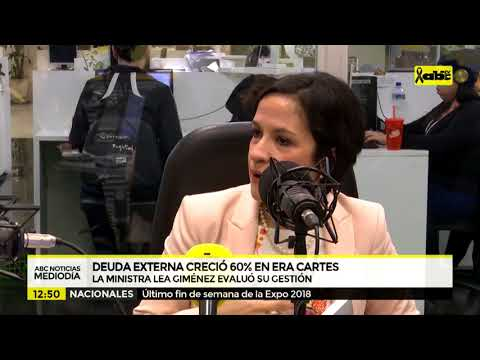 Lea Giménez en ABC cardinal: ministra reconoce duplicación de la deuda externa.