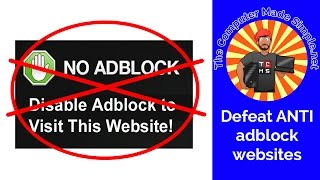 How to get around the Adblocker blockers!For more information: http://thecomputermadesimple.netA license to use this royalty-free music by AurusAudio was purchased from AudioJungle.net
