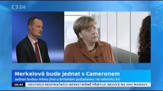 Merkelová bude jednat s Cameronem o britských požadavcích