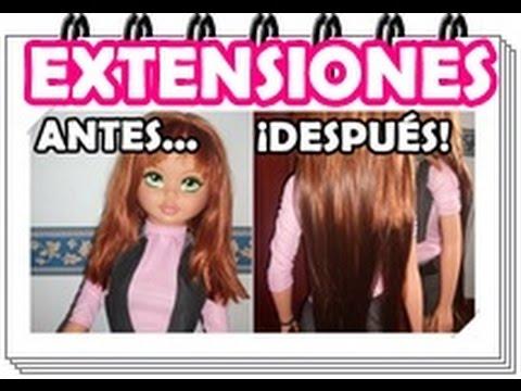 EXTENSIONES DE CLIP | Cómo colocarlas en tu cabello ¡PELUQUINA!