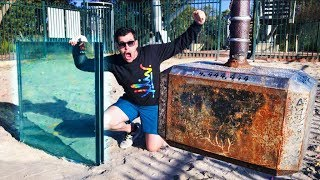 THOR'S HAMMER Vs. DOUBLE BULLETPROOF GLASS from 45m!