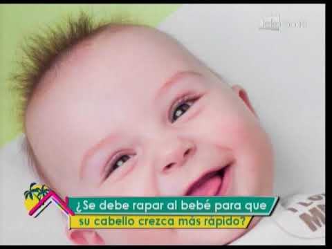 ¿Se debe rapar al bebé para que su cabello crezca más rápido?