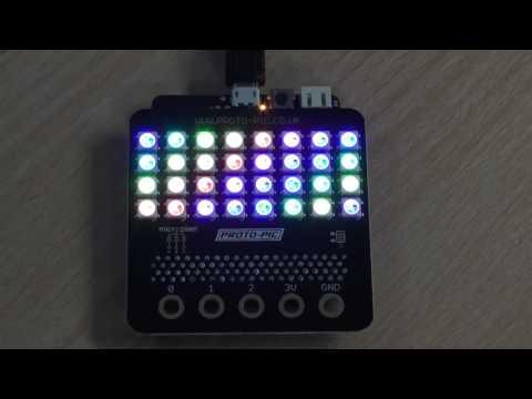 micro:pixel 4x8 WS2812B board for BBC micro:bit