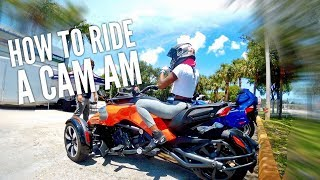 9. Can Am Spyder F3 Sport test ride Moto Vlog 42