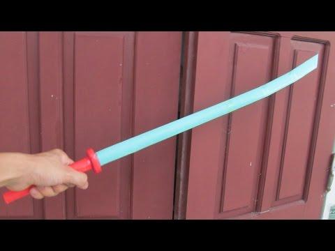 Как сделать японский меч катана с использованием бумаги