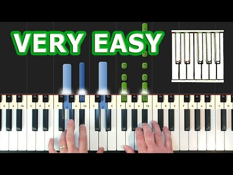 Carol of the Bells - Piano Tutorial VERY EASY - How To Play (Synthesia)