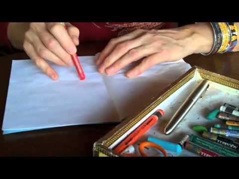 crayons - A little demo video showing one way I use watercolor crayons in my journals. This accompanies my post about Three Big Rocks, http://ordinarybeauty.com/2011/0...