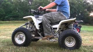 8. 2000 Yamaha Blaster Blaster four wheeler manual 200cc 2x4 racer bike white.