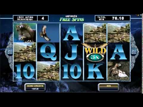 Untamed -- Crowned Eagle Slots 10 Free Spins with Soaring Wild