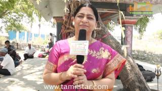 Meera Krishnan at Manam Konda Kadhal Shooting Spot