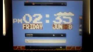 8 Bit Digital Clock Wallpaper YouTube video