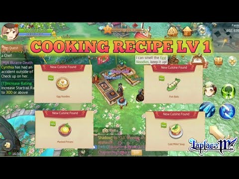 Cooking Recipes Level 1 + Full Guide Culinary [Laplace M / Tales Of Wind]