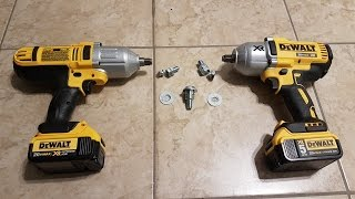 Dewalt DCF889 and DCF899 bolt shear test