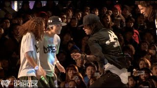 Download Video Les Twins vs Rush Ball G-SHOCK REAL TOUGHNESS Japan 2012 | YAK FILMS MP3 3GP MP4