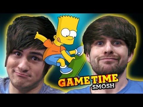 finally - Simpsons Arcade is on the Xbox, so now we can beat it Subscribe to Smosh Games! http://smo.sh/SubSmoshGames Play with us! Subscribe: http://smo.sh/SubscribeS...