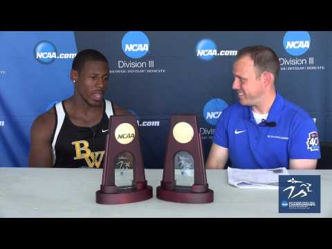 Kevin Johnson NCAA Division III National Champion in 200-meter