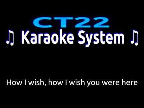 Pink Floyd – Wish You Were Here FEMALE KEY [Karaoke/Guitar Instrumental] Lyrics on Screen HD REQUEST