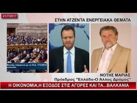 Ο Νότης Μαριάς για την οικονομία, τη δήθεν έξοδο στις αγορές, τα Βαλκάνια και το ενεργειακό