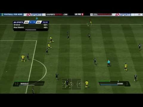 FIFA 11 | Real Madrid vs. Arsenal full gameplay trailer (2010) with Mesut Özil playing !!