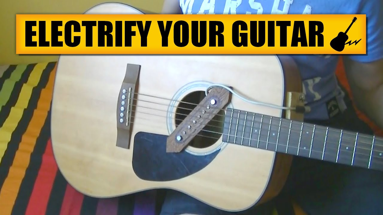 Guitar acoustic to electric : DIY Experiments [#4]