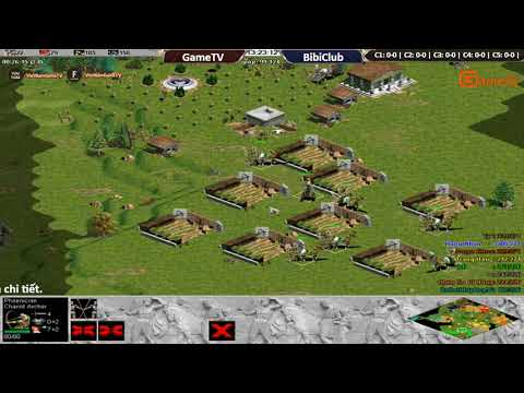 AOE |4vs4 Random GameTV vs BibiClub Ngày 11 09 2017. BLV G Man