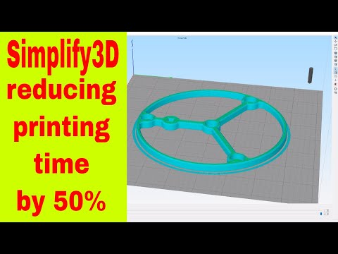 ▼ Simplify3D reducing printing time to less than 50 percent while maintaining quality