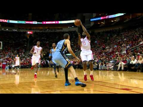 Video: Harden Hits Chandler Parsons for the High-Flying Oop