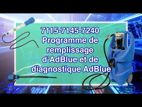 Programme de remplissage d'AdBlue et de diagnostique AdBlue