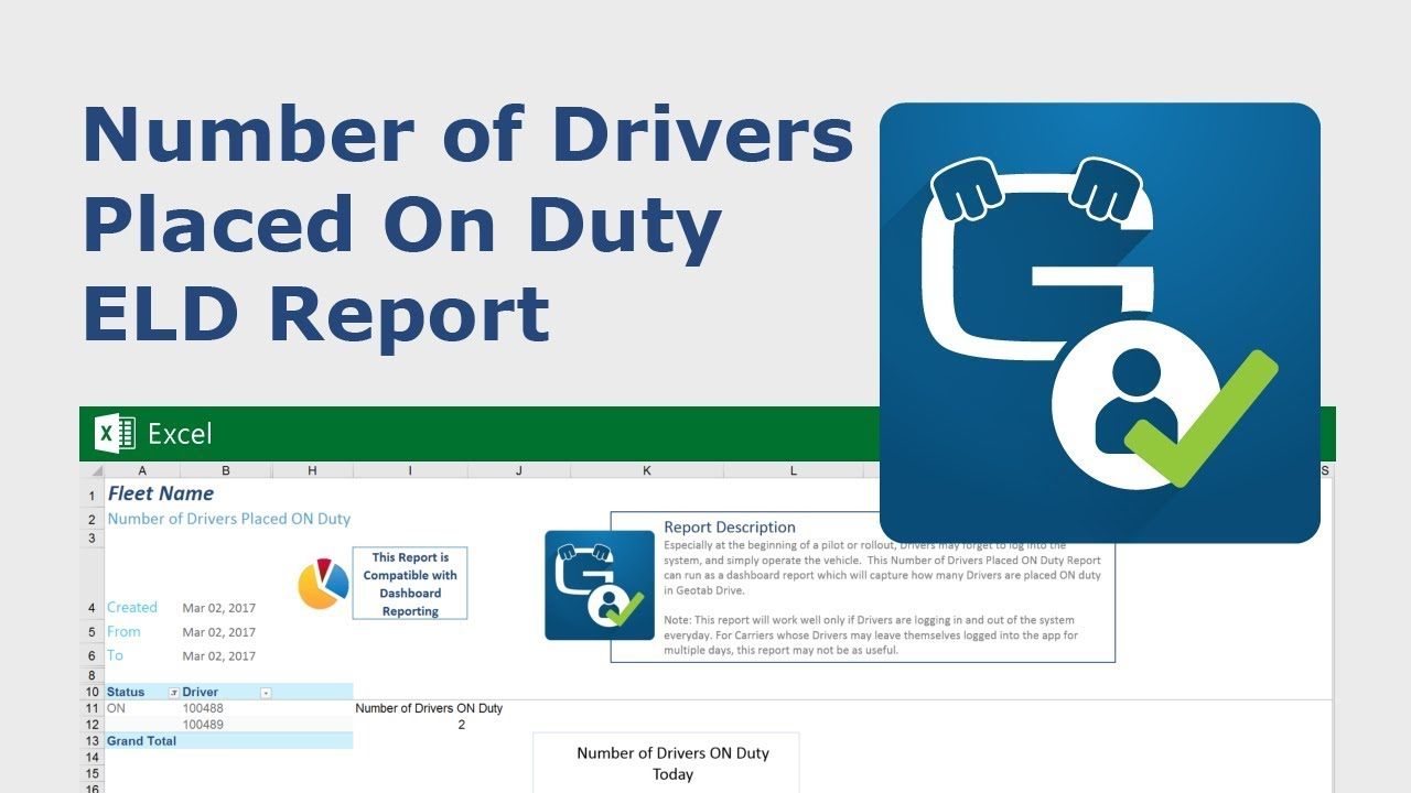 A video showing how Number of Drivers Placed ON Duty ELD Report works.