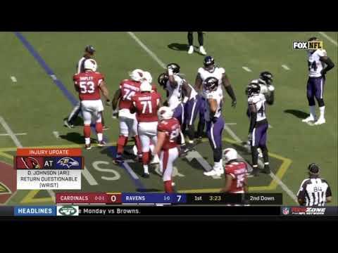 David Johnson Wrist Injury Week 2 2019